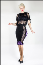 Black/Purple Satin Bustle Skirt